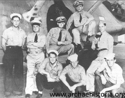 The VP- 44 crew on Midway Atoll in June 1942 which spotted the main body of the Japanese Midway invasion fleet.