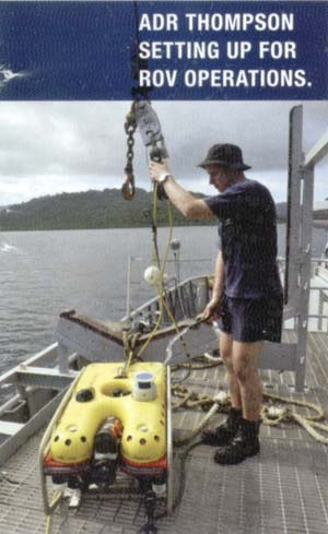 ADR Thompson setting up for ROV operations